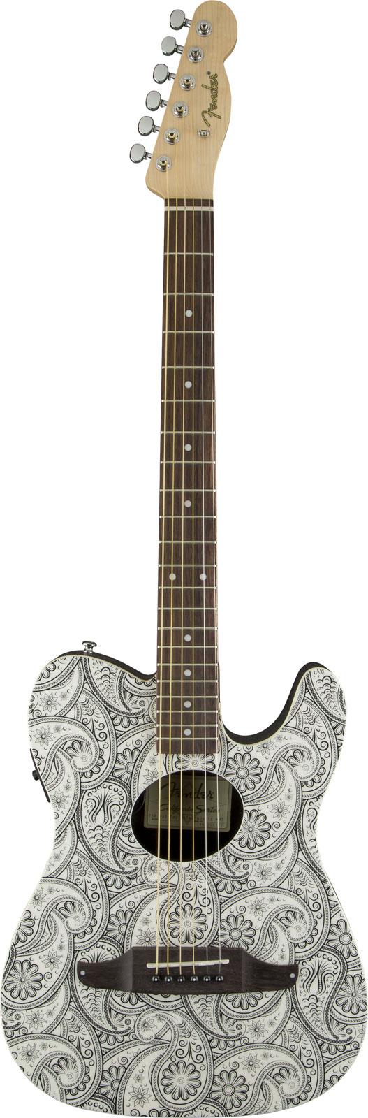 Fender Standard Telecoustic White Paisley