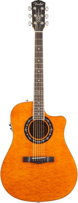 Fender T Bucket 300ce Amber Quilt Maple
