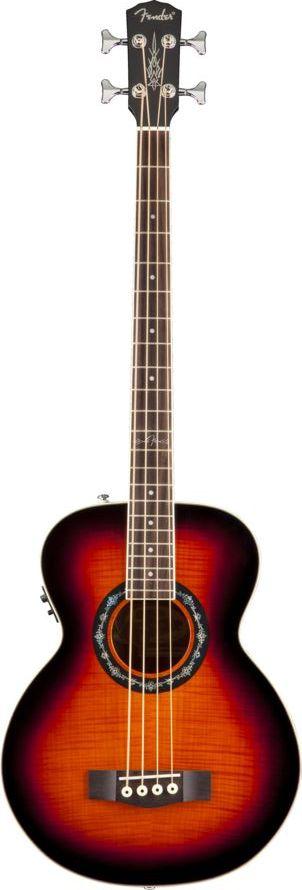 Fender T Bucket Bass E Sunburst Flame Maple