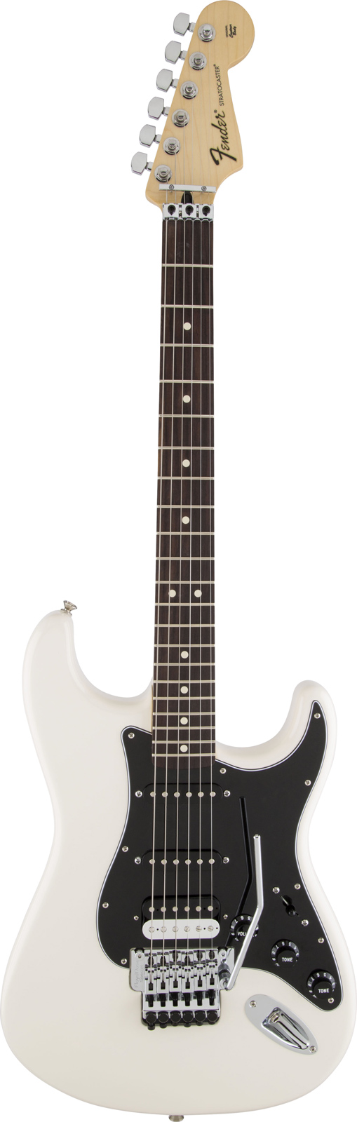 Fender Mexican Standard Stratocaster Hss Floyd Rose Rw Olympic White