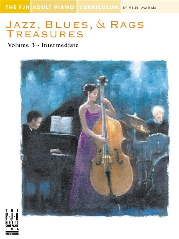 JAZZ BLUES AND RAGS TREASURES VOLUME 3 - PIANO SOLO