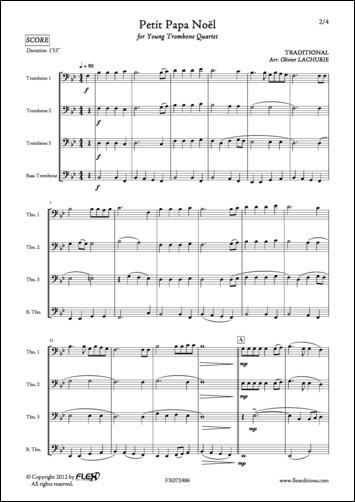 Partitions Traditionnel Petit Papa Noel Quatuor De Trombones