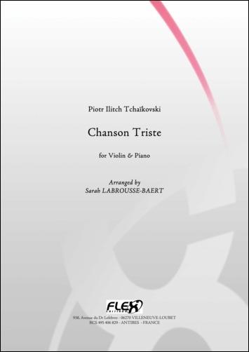 Tchaikovsky P. I. - Chanson Triste - Violon Et Piano