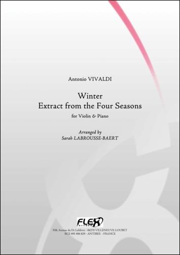 Vivaldi A. - L'hiver - Extrait Des Quatre Saisons - Violon Et Piano