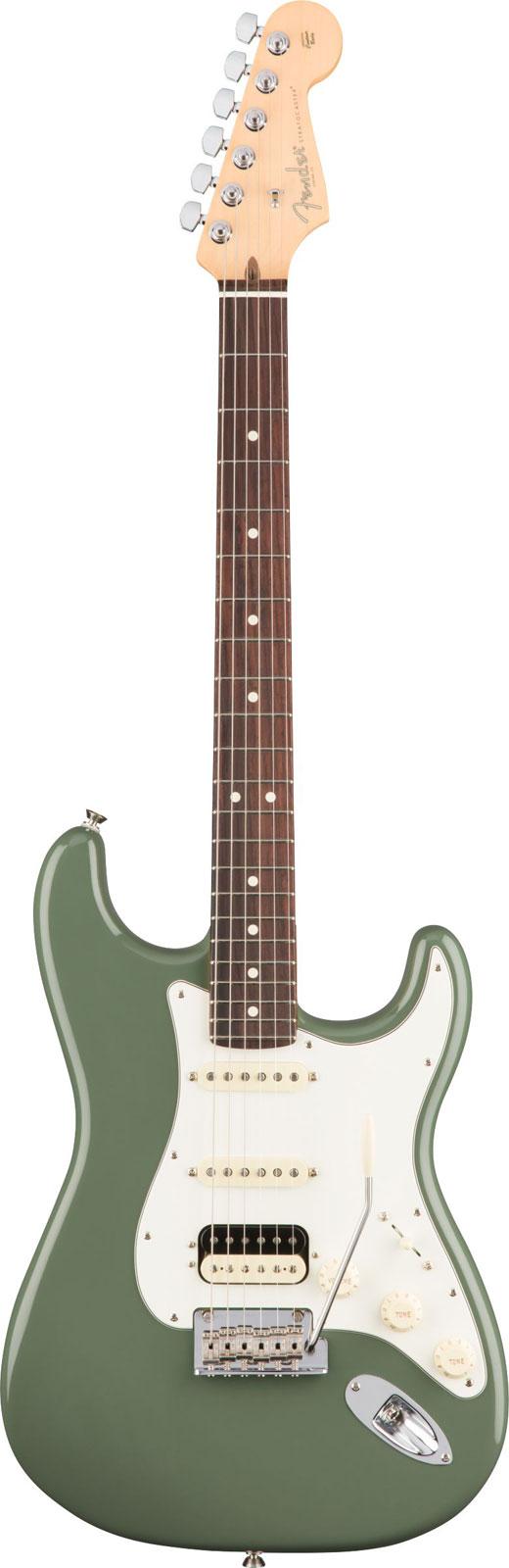 Fender American Professional Stratocaster Hss Shawbucker Rw Antique Olive