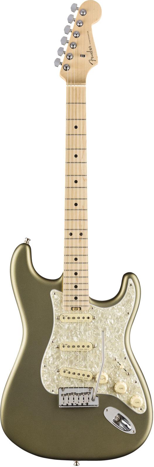 Fender American Elite Stratocaster Mn Satin Jade Pearl Metallic