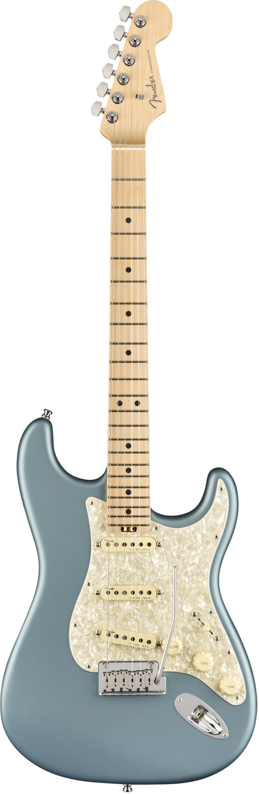 Fender American Elite Stratocaster Mn Satin Ice Blue Metallic