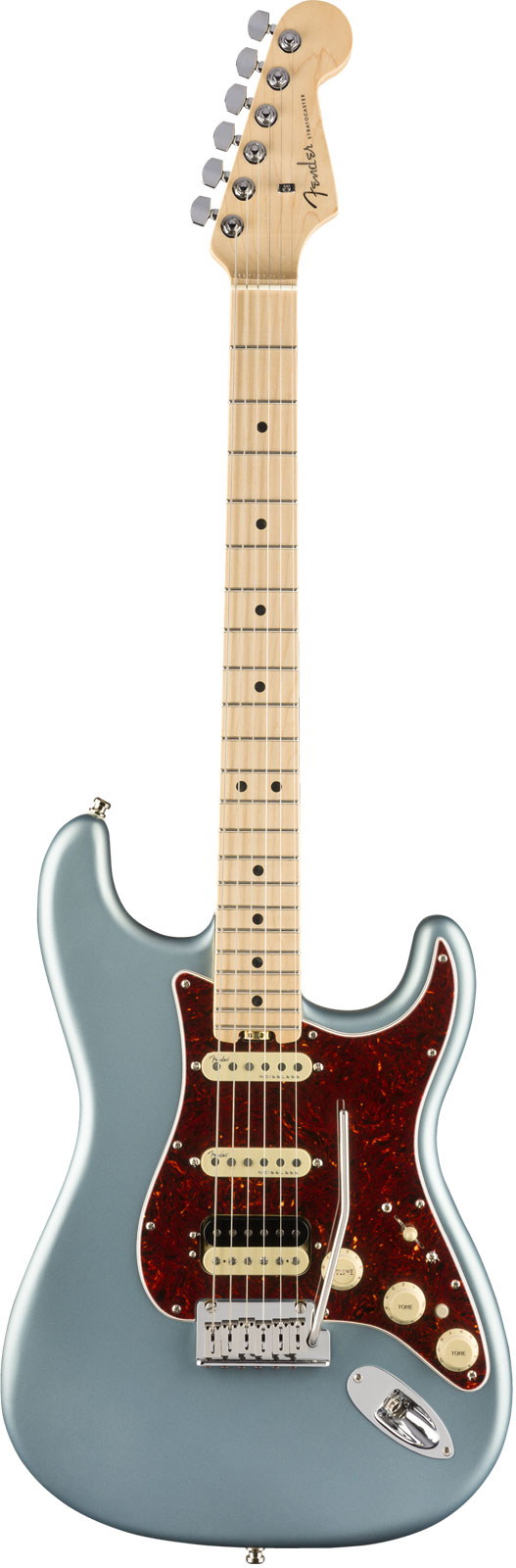 Fender American Elite Stratocaster Hss Shawbucker Mn Satin Ice Blue Metallic