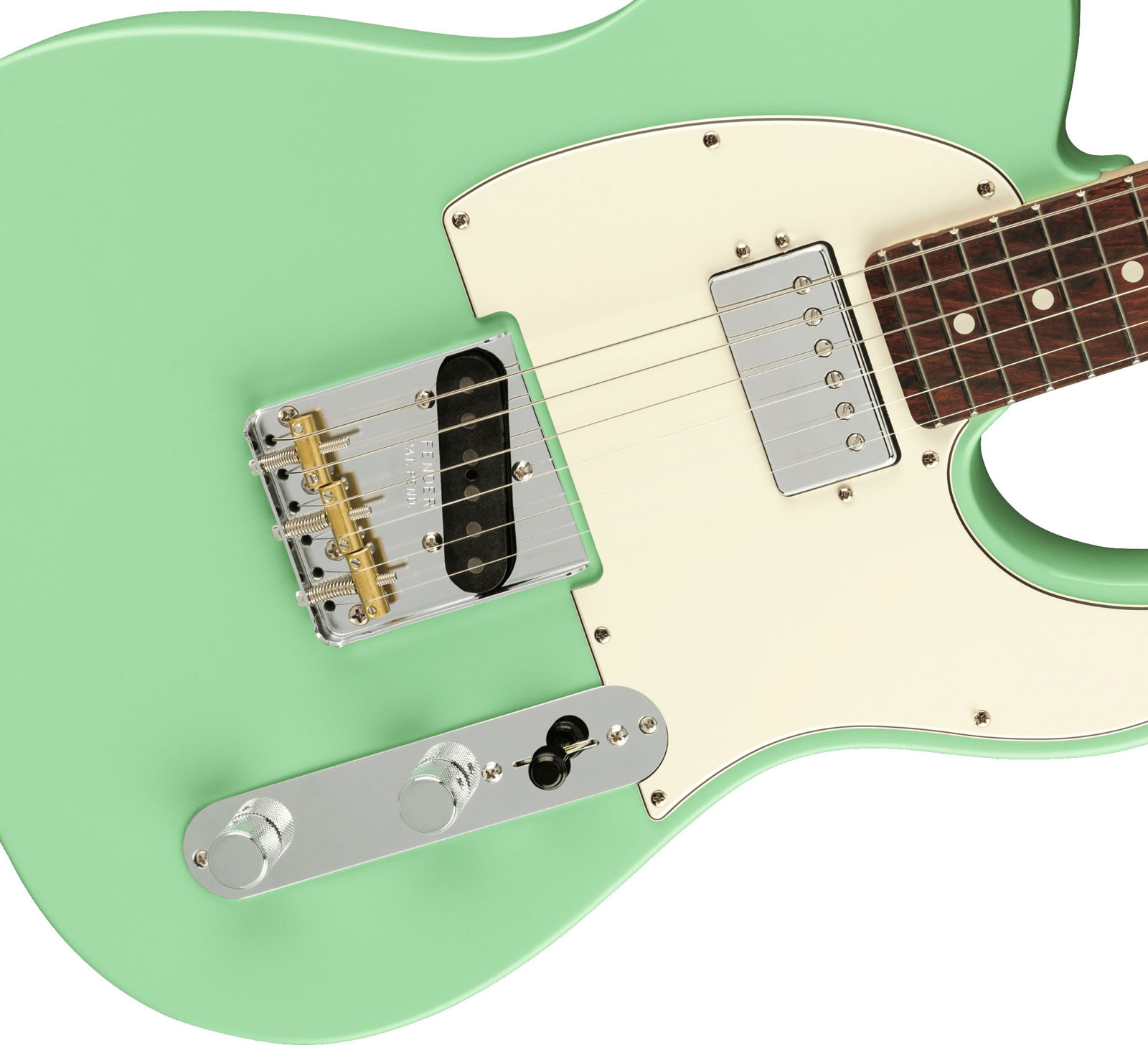 AMERICAN PERFORMER TELECASTER WITH HUMBUCKING RW SATIN SURF GREEN