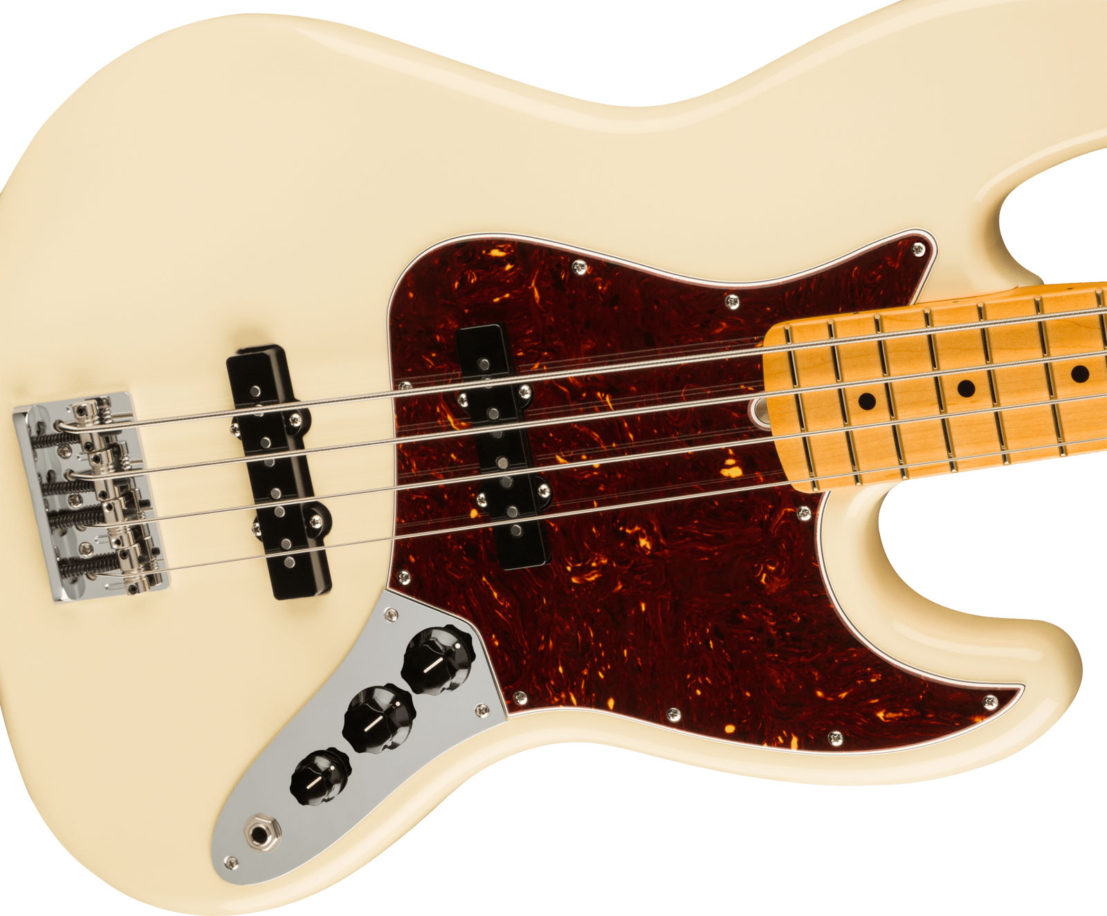 AMERICAN PROFESSIONAL II JAZZ BASS MN OLYMPIC WHITE