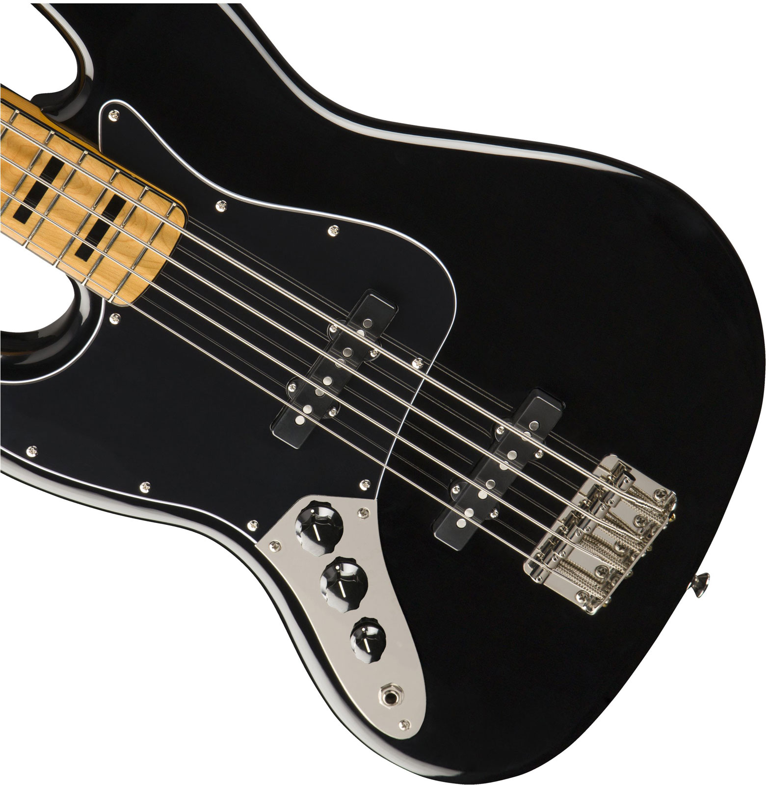 CLASSIC VIBE '70S JAZZ BASS LEFT-HANDED MN BLACK