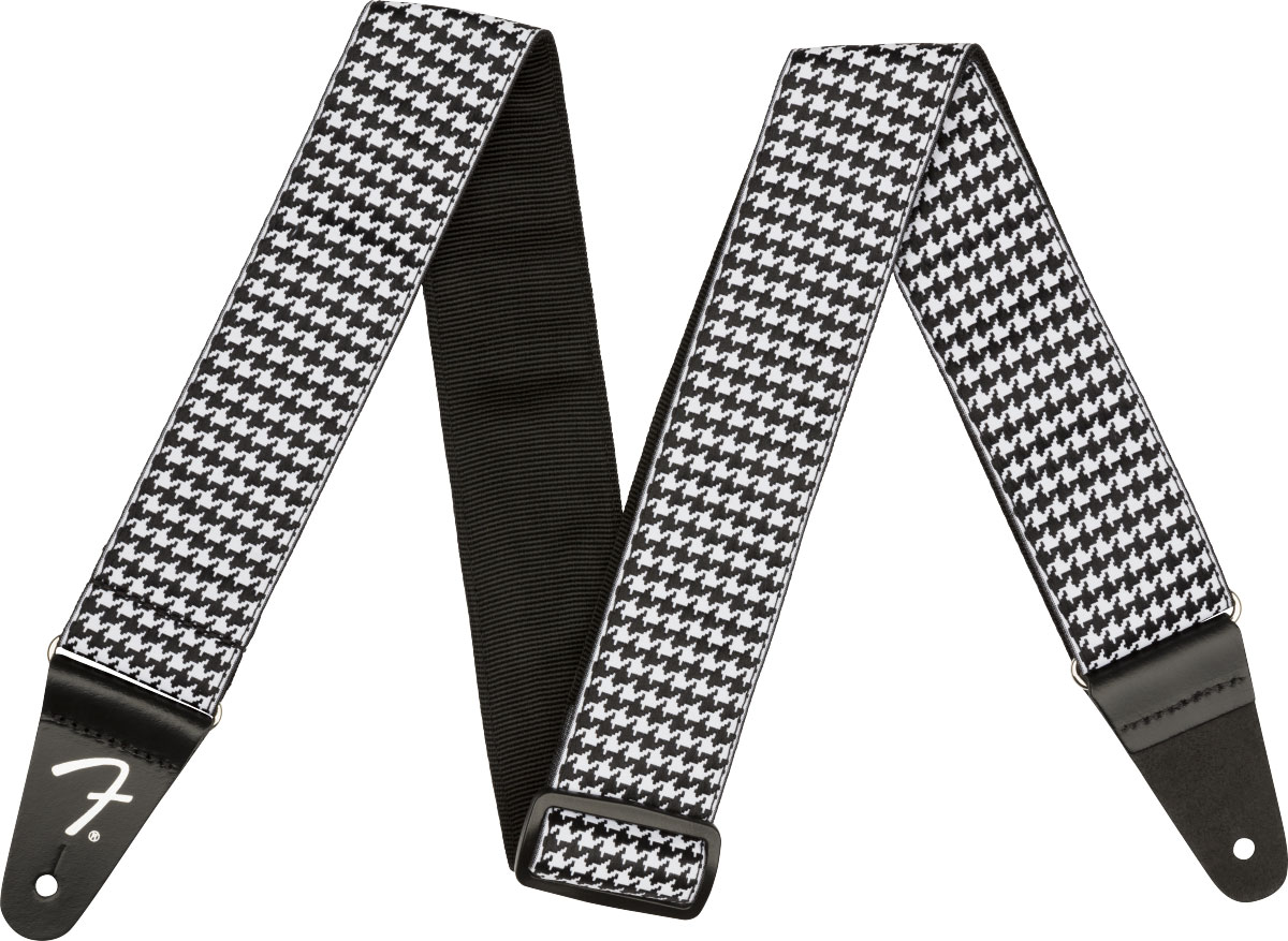 HOUNDSTOOTH STRAP WHITE