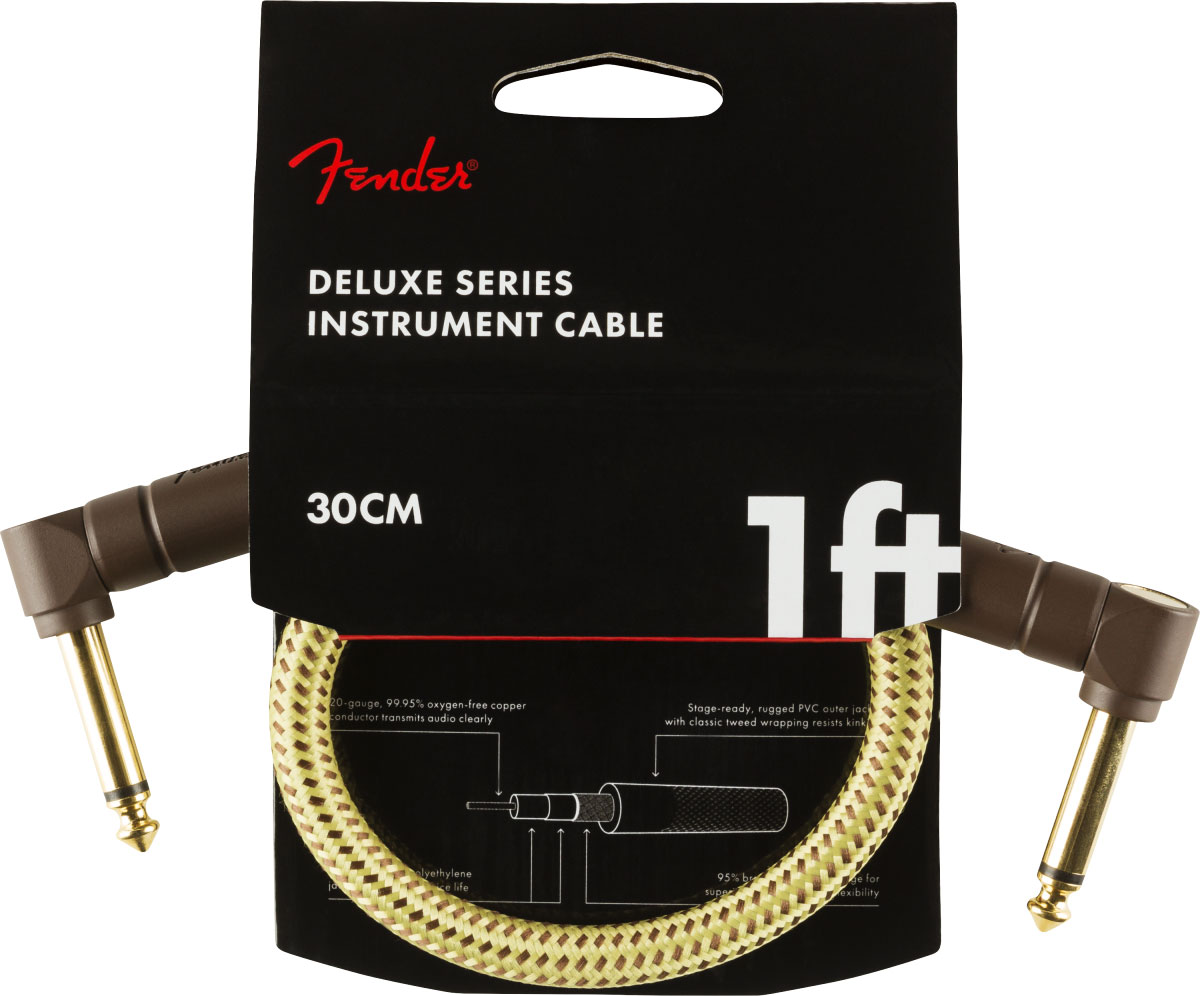 DELUXE SERIES INSTRUMENT CABLE ANGLE/ANGLE 1' TWEED