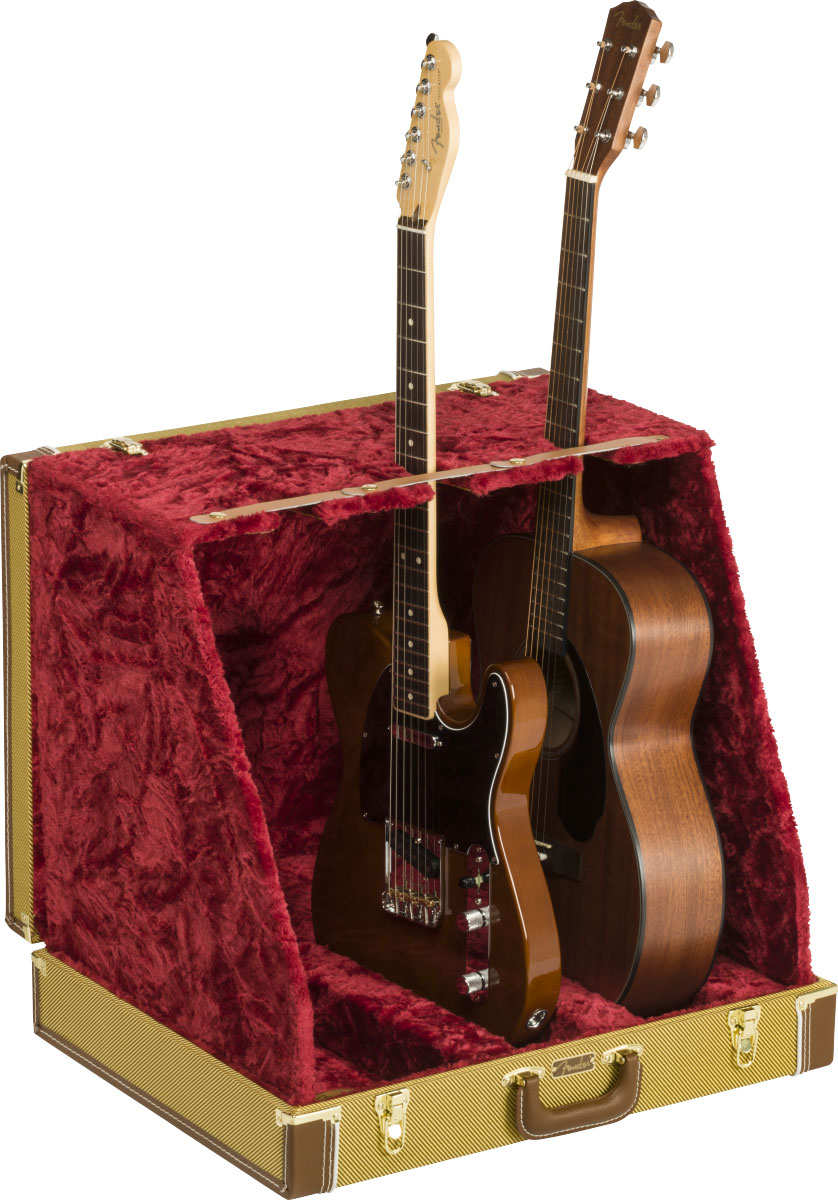 CLASSIC SERIES CASE STAND TWEED 3 GUITAR