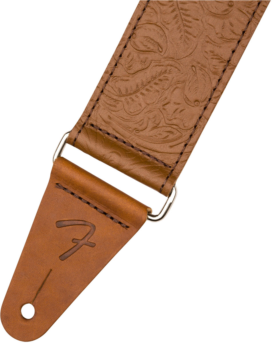 TOOLED LEATHER GUITAR STRAP 2