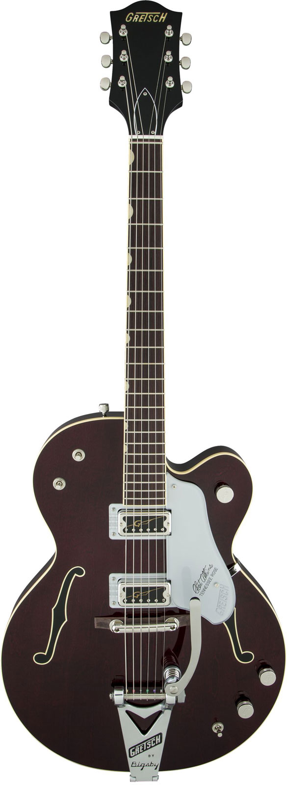Gretsch G6119t-62ge Golden Era Tennessee Rose Bigsby Dark Cherry Stain + Etui