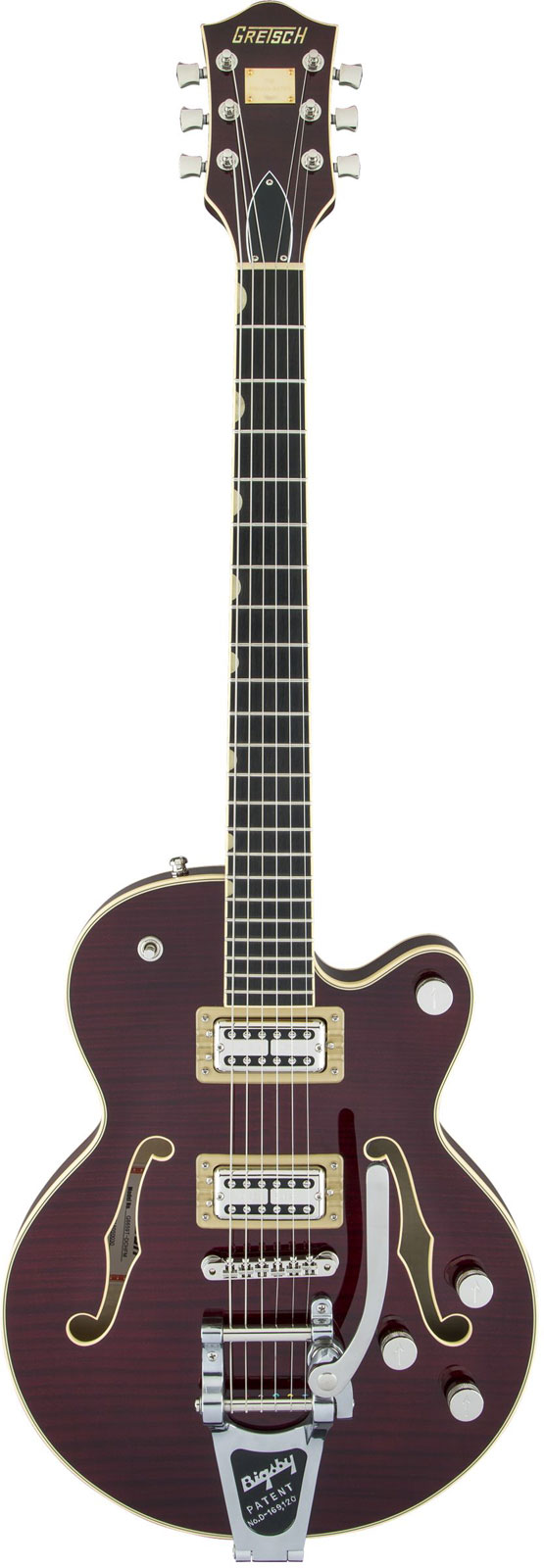 Gretsch Guitars G6659tfm Players Edition Broadkaster Jr. Bigsby Dark Cherry Stain