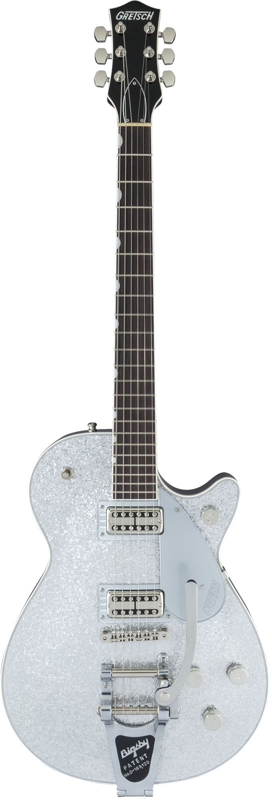 Gretsch Guitars G6129t Players Edition Jet Ft With Bigsby Rw Silver Sparkle
