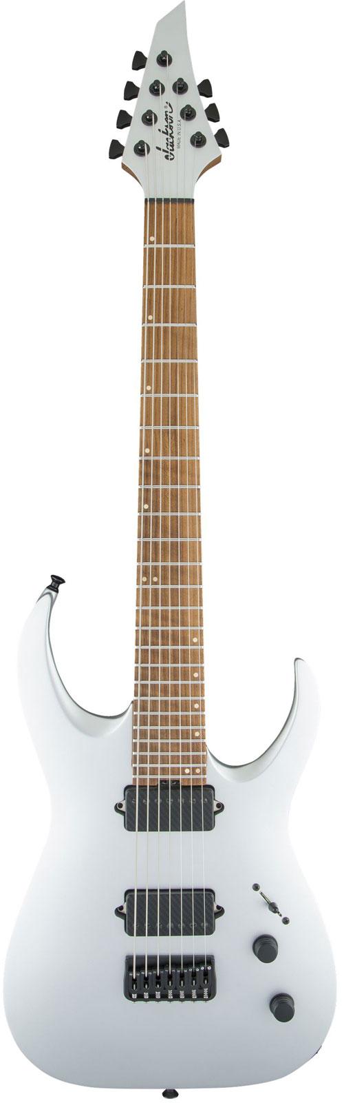 Jackson Guitars Usa Signature Misha Mansoor Juggernaut Ht7 Caramelized Flame Maple Fingerboard Satin Silver