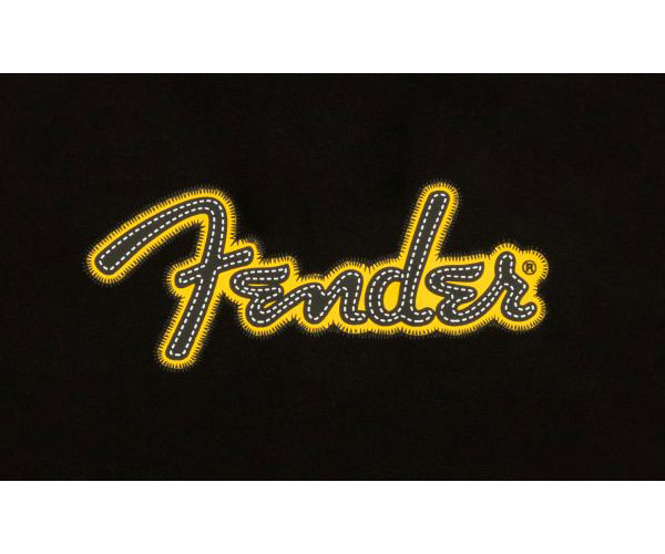 YELLOW STITCH LOGO HOODIE BLACK L
