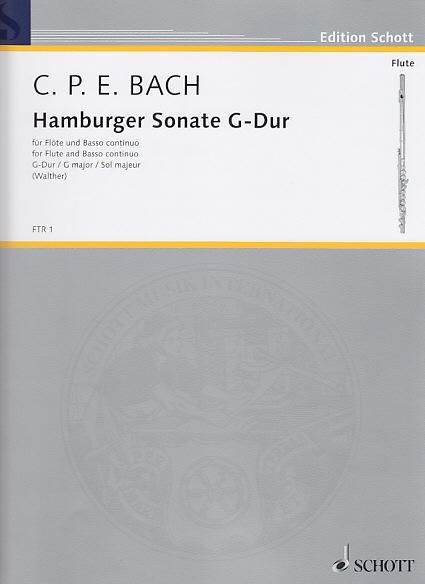 Bach C.p.e. - Hamburger Sonate G-dur - Flute Et Bc