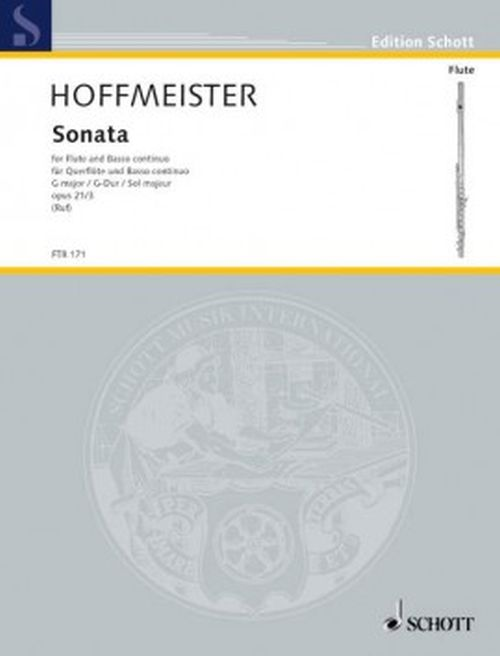 Hoffmeister F. A. - Sonata G Major Op.21/3 - Flute & Piano