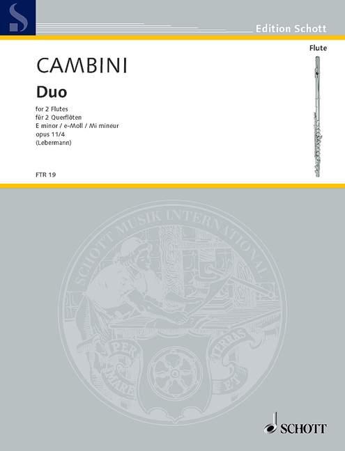 Cambini Giovanni Giuseppe - Duo E Minor Op. 11/4 - 2 Flutes