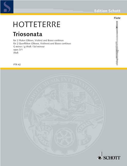 Hotteterre Le Romain Jacques - Trio Sonata G Minor Op 3/1