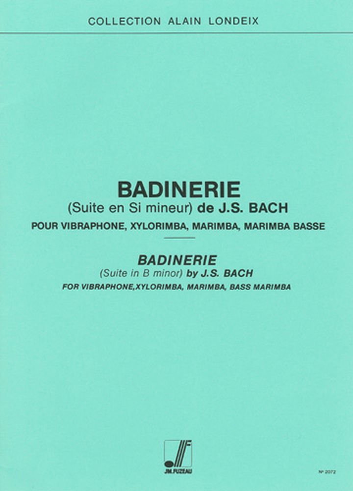 analysis of badinerie by j s bach In is unknown when exactly johann sebastian bach wrote his suite for orchestra  no  sarabande bourrée 1 bourrée 2 polonaise double menuet badinerie.