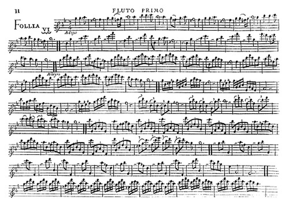 CORELLI A. - SIX SOLOS FOR A FLUTE AND A BASS, WALSH AND HARE, LONDON, 1702 - FAC-SIMILE FUZEAU