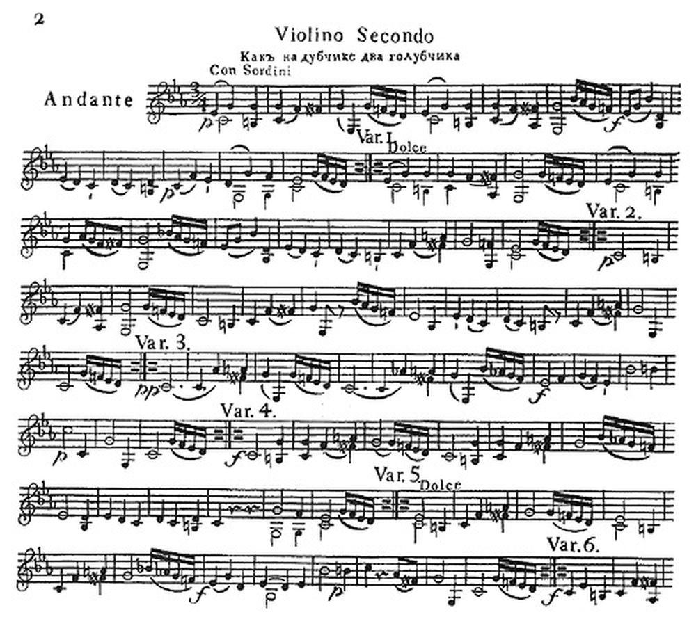 partition musique russe