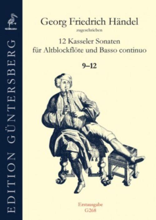 Händel G.f. - 12 Kasseler Sonaten (9-12) - Viola Da Gamba Und Basso Continuo