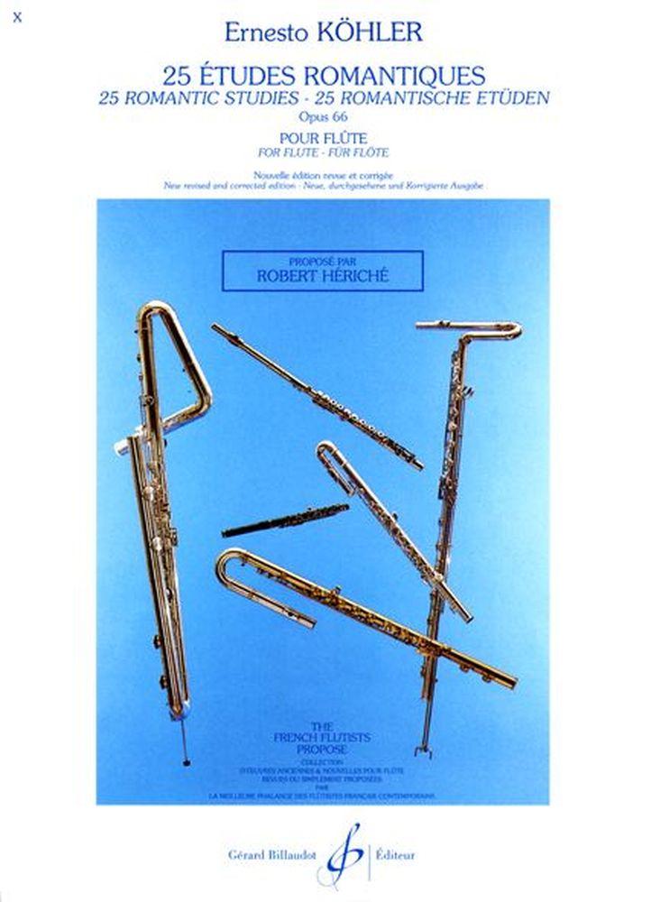 Köhler Ernesto - 25 Etudes Romantiques Op.66 - Flute