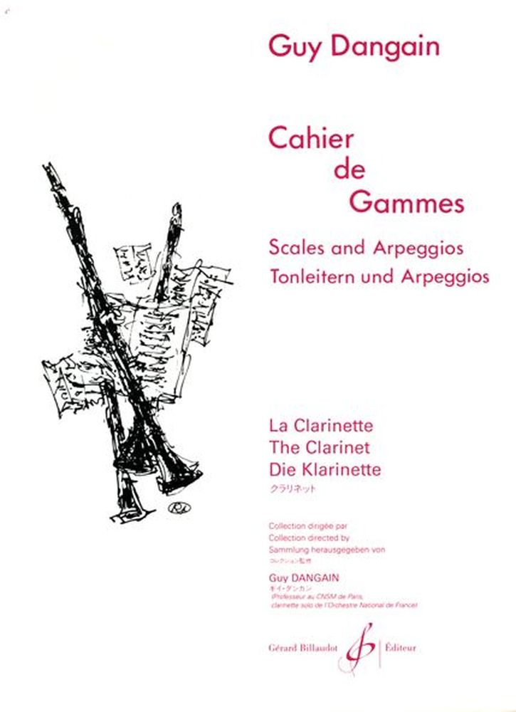 Dangain Guy - Cahier De Gammes - Clarinette