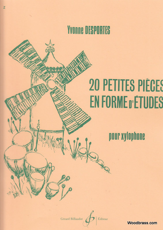 DESPORTES YVONNE - 20 PETITES PIECES EN FORME D'ETUDES - PERCUSSION