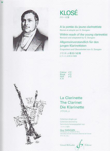 Klose - A La Portee Du Jeune Clarinettiste Vol.2
