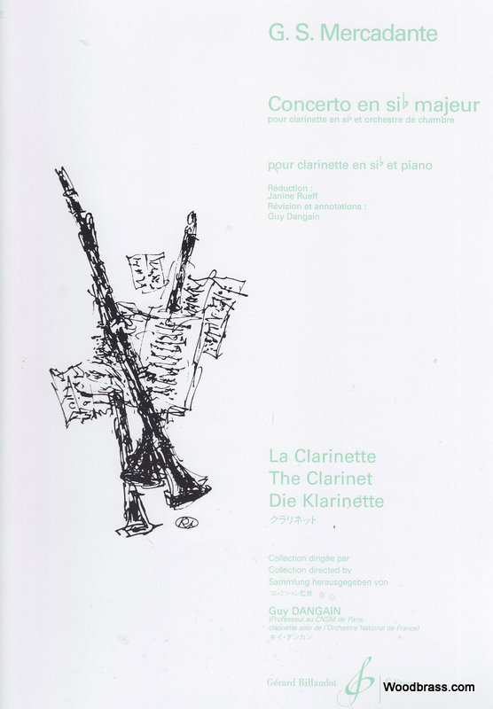 Mercadante G.s. - Concerto En Si B Majeur - Clarinette
