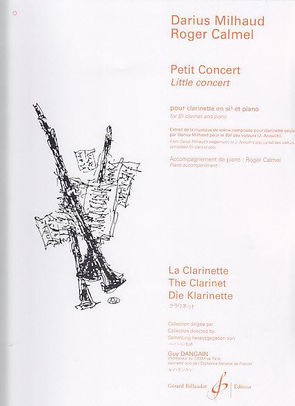 Milhaud Darius - Petit Concert - Clarinette Sib, Piano