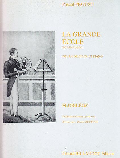 Proust Pascal - La Grande Ecole, 8 Pieces Faciles - Cor, Piano