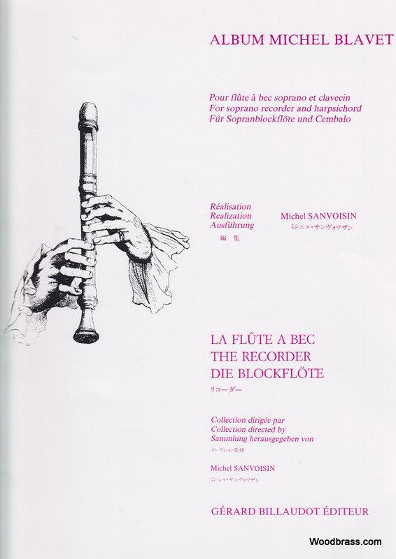 Blavet Michel - Album Michel Blavet - Flute A Bec Soprano Et Clavecin