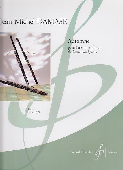 Damase Jean-michel - Automne - Basson, Piano