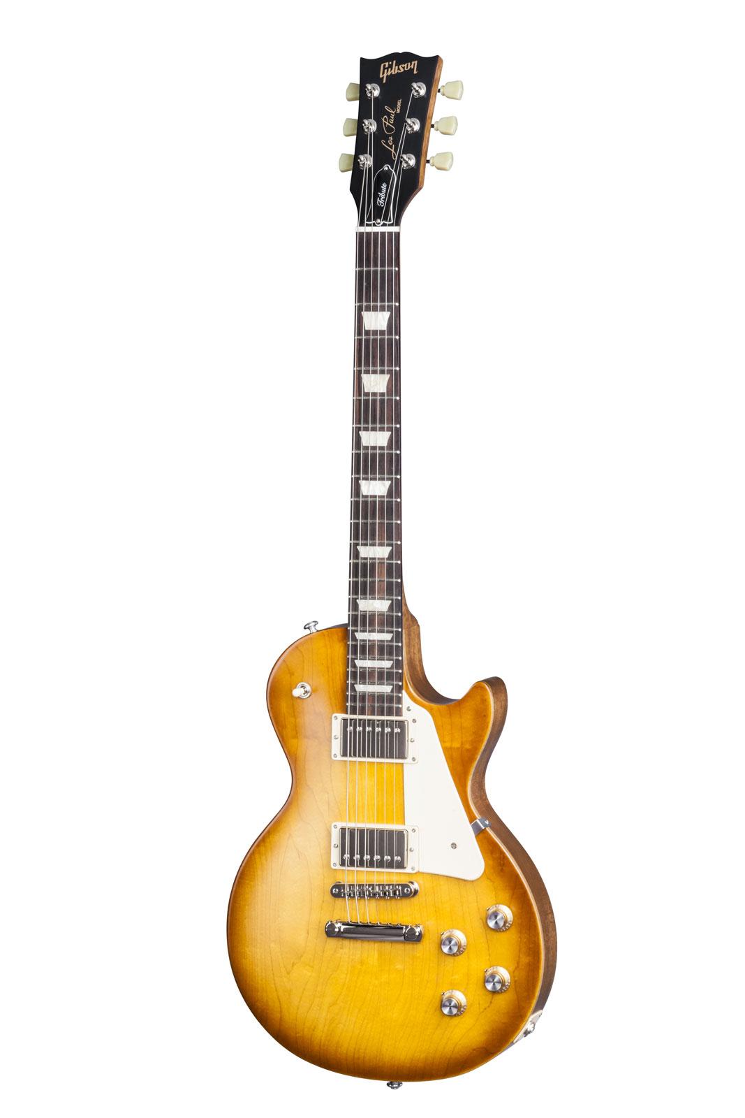 guitares electriques gibson les paul lp studio faded 2016 hp worn cherry + housse single cut