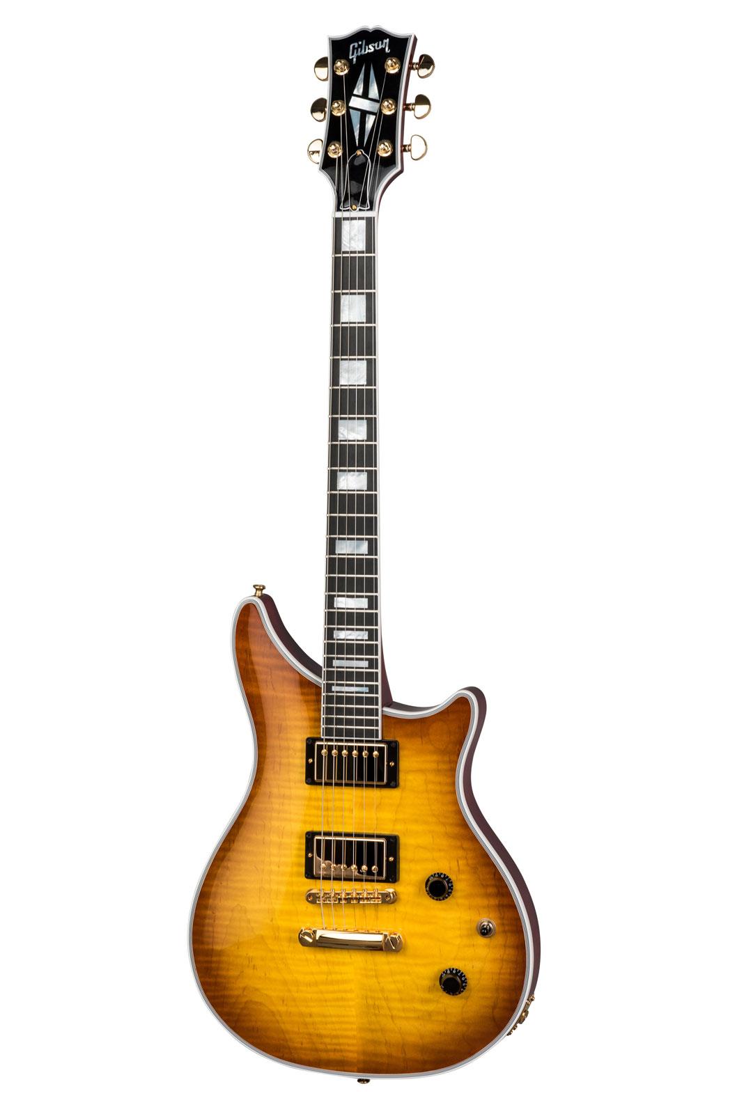 Gibson Modern Double Cut Custom Figured Top Honey Burst 2018