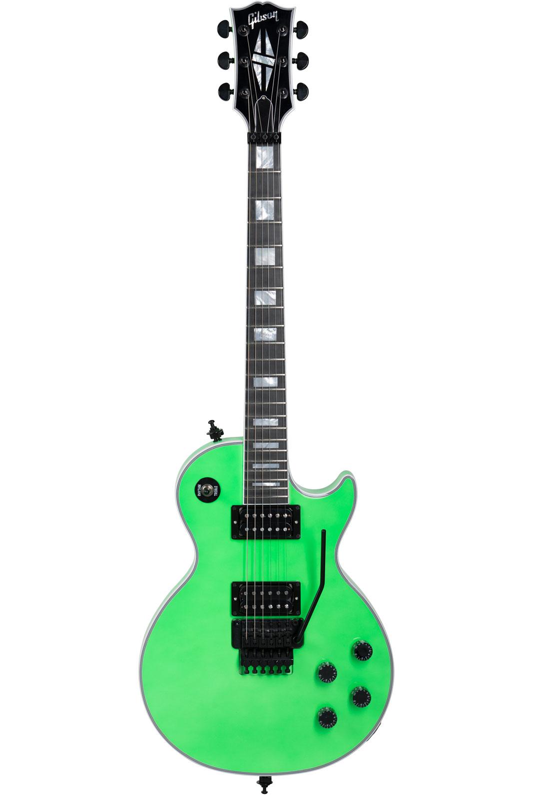 Gibson Modern Les Paul Axcess Custom Neon Green Black Floyd Neon Green