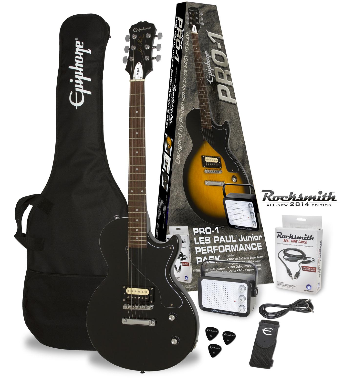 Epiphone Pro-1 Les Paul Jr. Rocksmith Pack Ebony