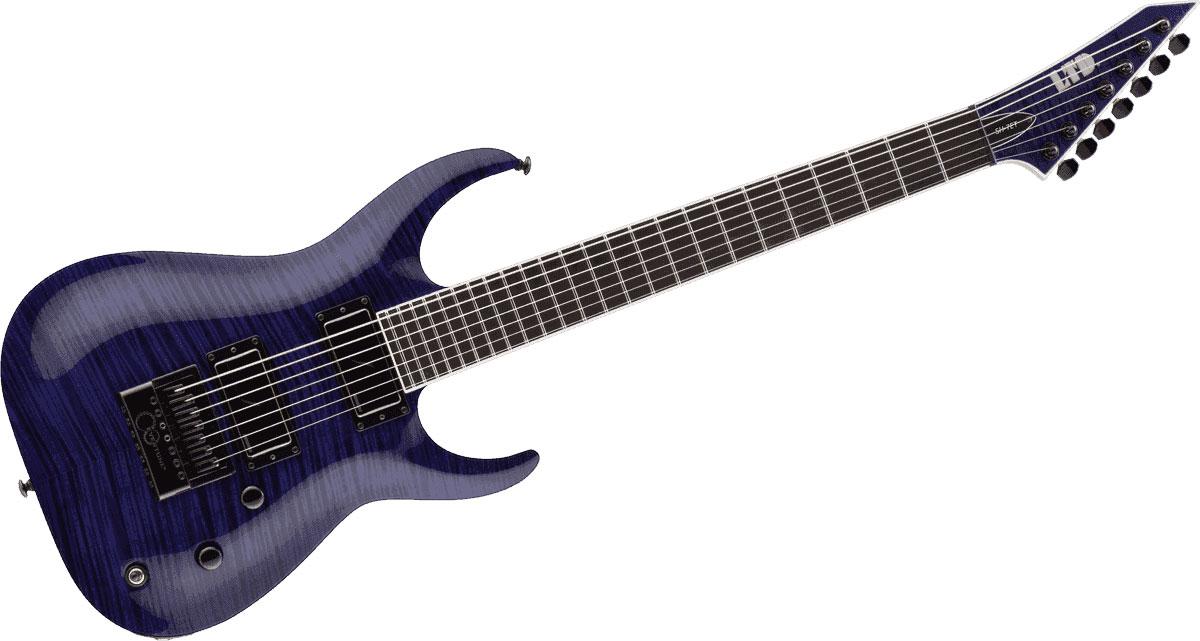 Ltd Guitars Sh7etfm-stp See Thru Purple