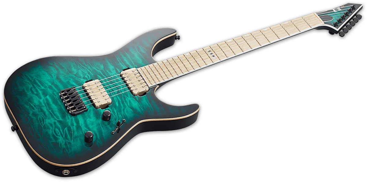Esp E-ii Standard M-ii Turquoise Pommele Degrade