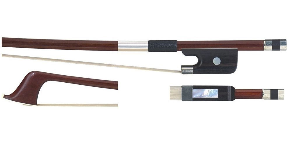 3/4 DOUBLE BASS BOW BRASIL WOOD FRENCH