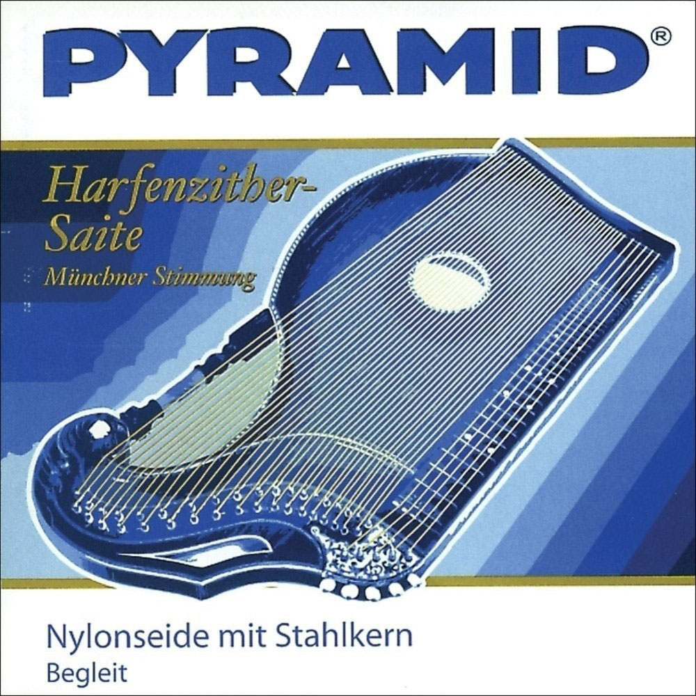 PYRAMID CITHARE NYLON FIBER STRINGS WITH STEEL CORE/STRONG AIR RESONANCE SI 2.