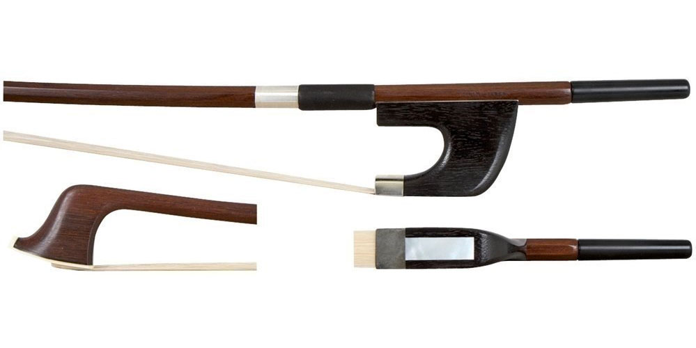 1/2 DOUBLE BASS BOW BRASIL WOOD STUDENT